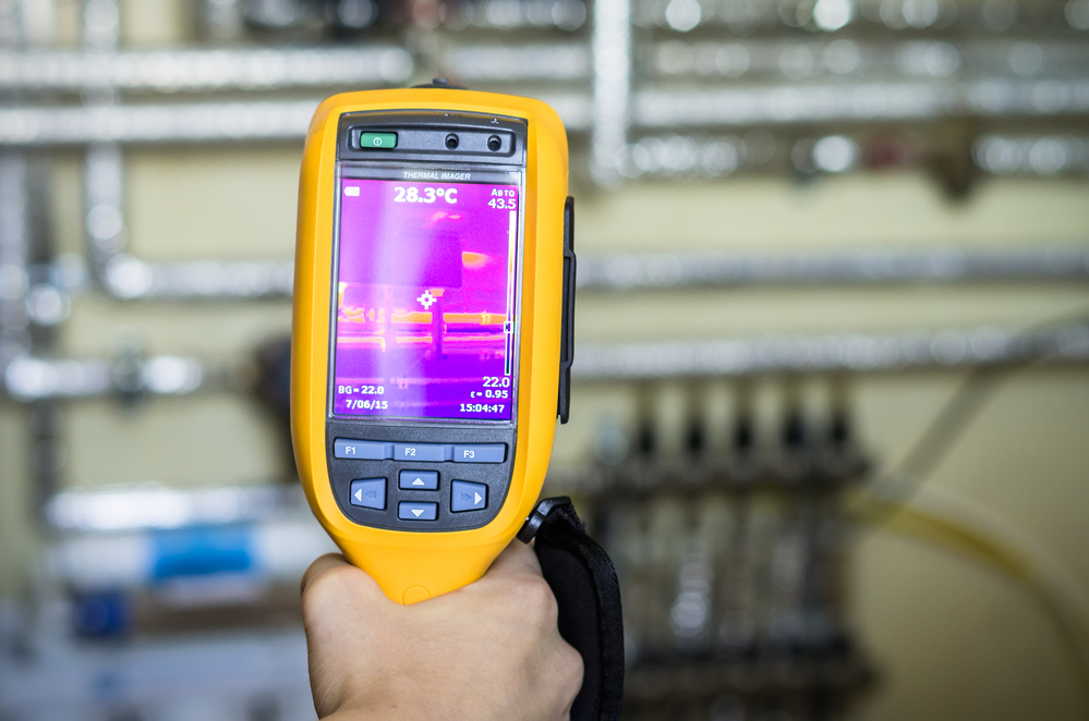 Thermal imaging is a specialized device used in leak detection