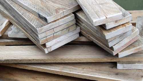 Reclaimed wood is a good option for a hardwood floor installation.